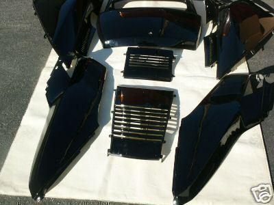complete set  black honda helix cn fusion cn  scooter upper panels hp trading company