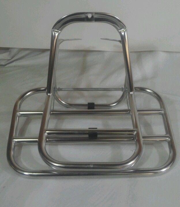 VESPA PX LML spring-loaded rear stainless flat rac