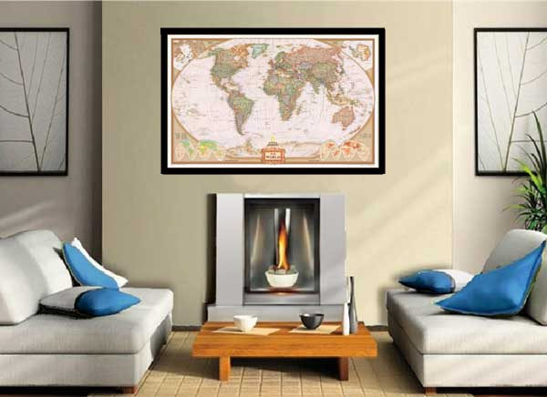 world classic elite wall map mural poster paper laminated framed ebay