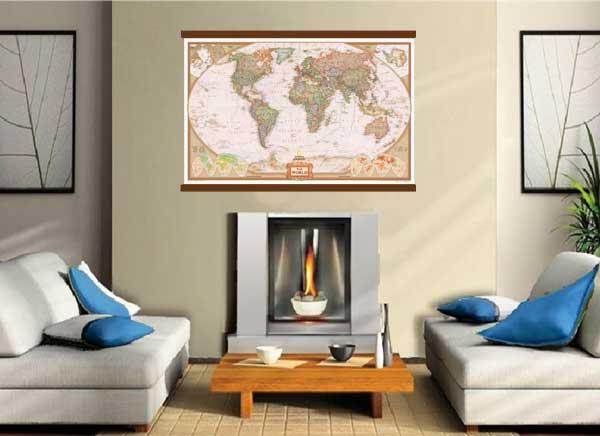 Rand McNally Style United States USAUS Large Wall Map Poster - Large us maps laminated
