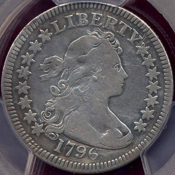 1796 Draped bust  25c  FINE