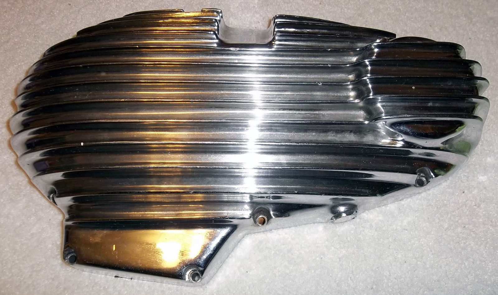 Chopper Primary Cover : Mpd finned primary ribbed polished cover harley