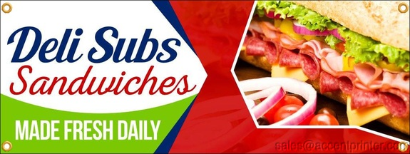 Deli Sandwiches Food Fair Truck Restaurant Vinyl Banner Sign With Grommets