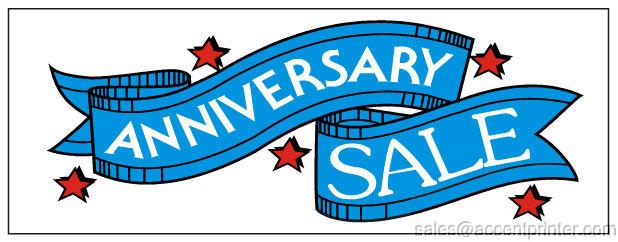 Anniversary sale vinyl banner sign red stars ebay