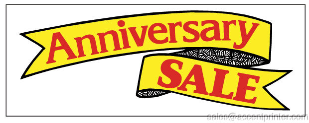 Anniversary sale vinyl banner sign x yellow ebay