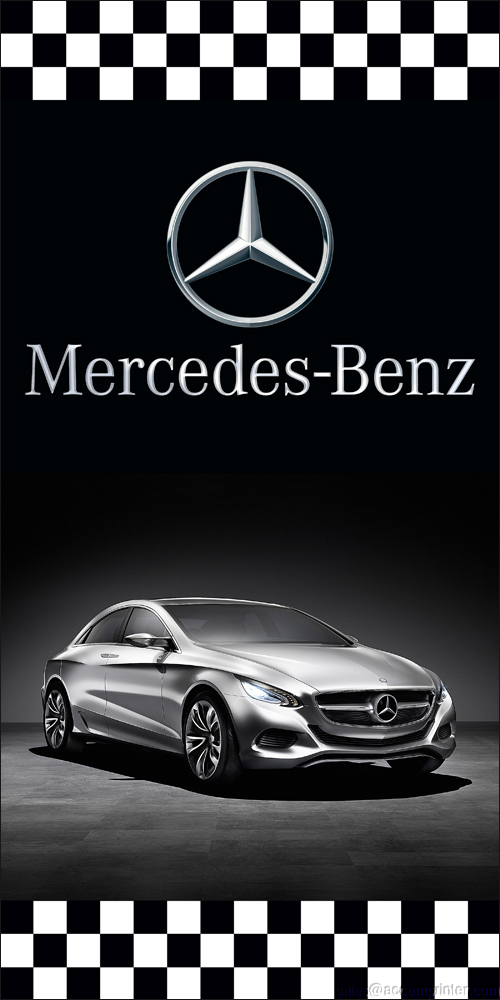 Mercedes benz auto dealer vertical avenue pole banner for Mercedes benz car dealers