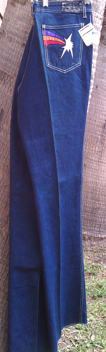 470c7bca949 Zodiac's Vintage Clothing : Faded Glory Star Blaze 70s Vintage Bell ...