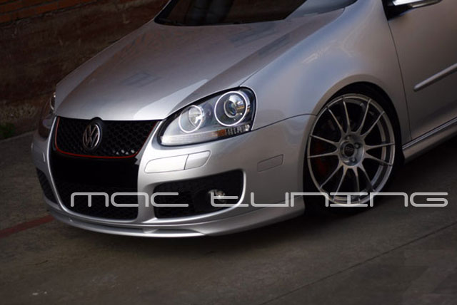 06 10 volkswagen golf gti mk5 euro style front bumper lip. Black Bedroom Furniture Sets. Home Design Ideas