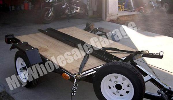 Sport Bike Single Rail Flatbed Carrier 4x5 Motorcycle Trailer Kit