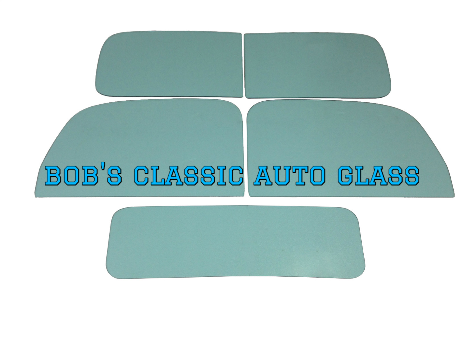 1938-1939 FORD TRUCK GLASS SET CLEAR
