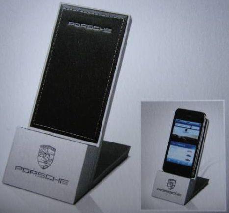 porsche mobile phone stand holder limited rare promo ebay. Black Bedroom Furniture Sets. Home Design Ideas