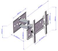 Articulating Swivel/Tilt Wall Mount 32 60 inch PLASMA/LCD/LED TV 10S
