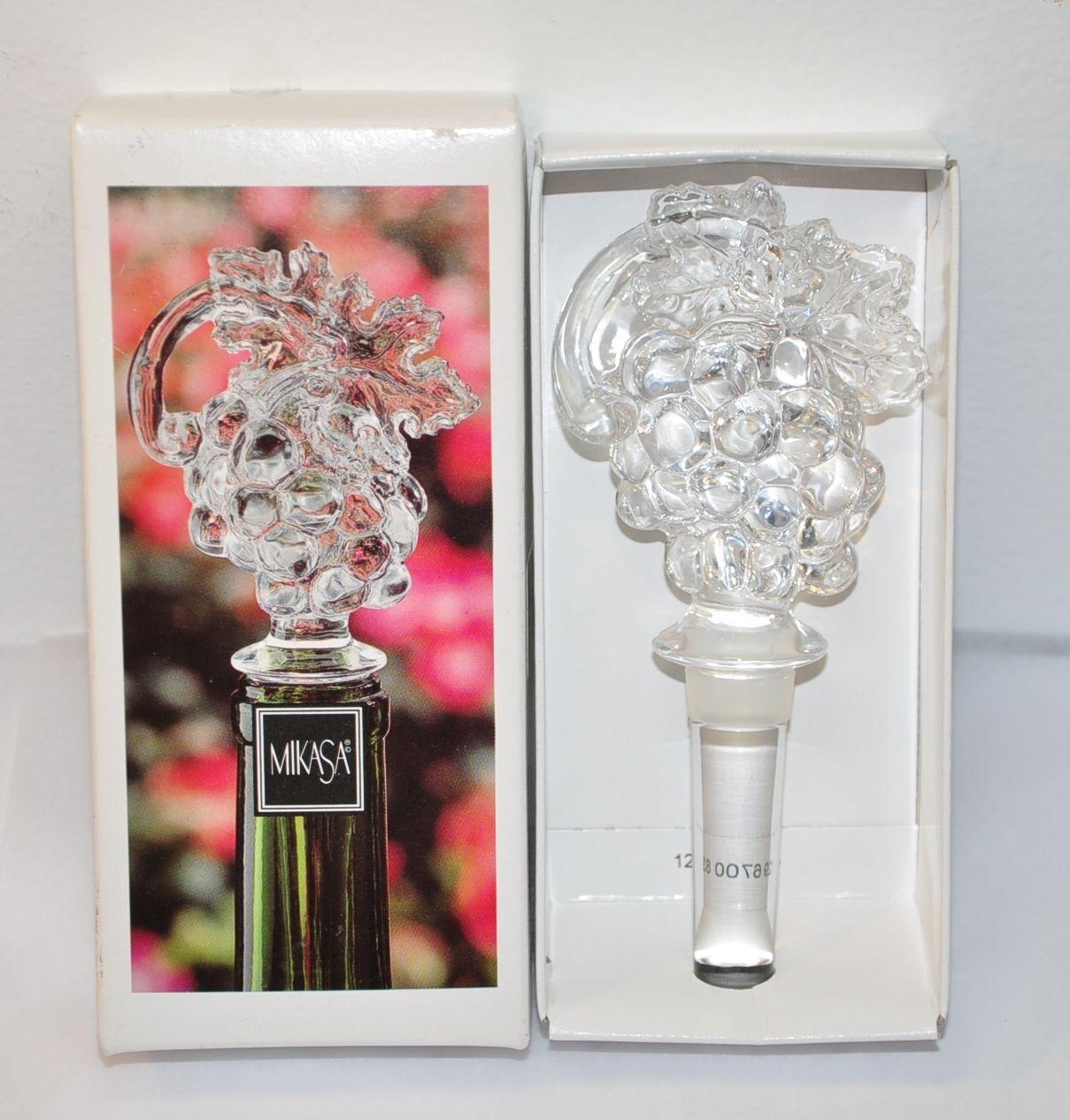 Mikasa Crystal Grape Cluster Wine Bottle Stopper A