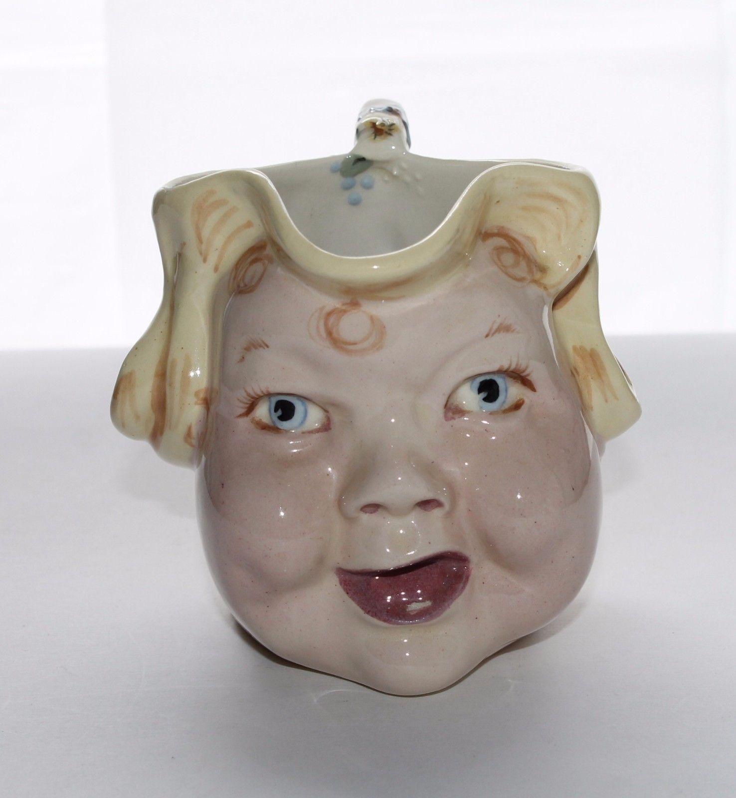 1930's HELEN HUTULA Helen's Ware Baby Face Creamer
