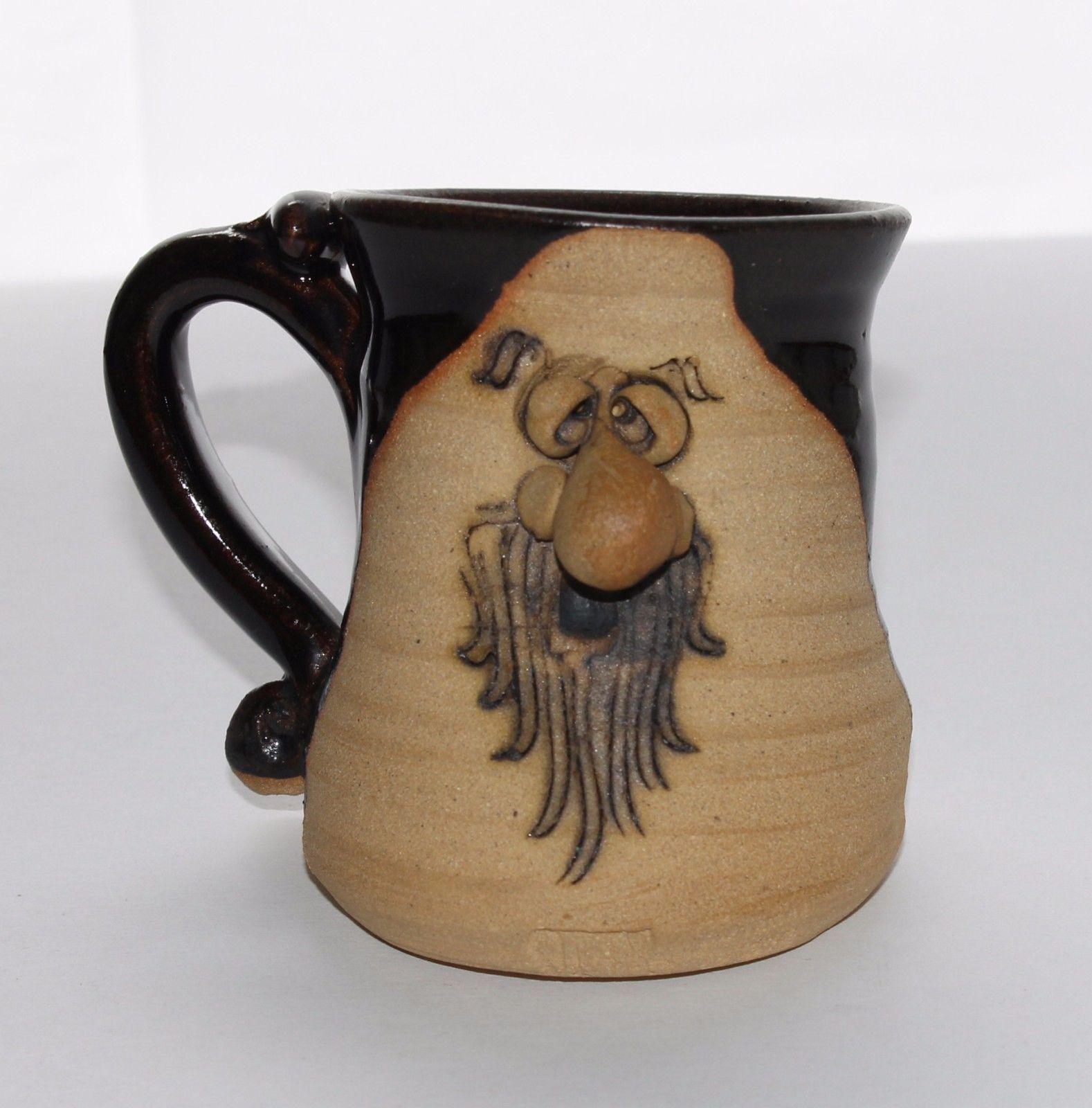 Peter Petrie Vintage 1974 3D Art Pottery Slanted M