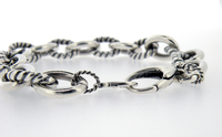 Carolyn Pollack .925 Sterling Silver Twist Link Rope Chain Charm