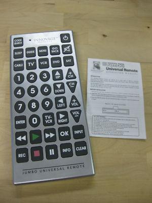 Maxcattum Innovage Jumbo Universal Remote Control Original Owner