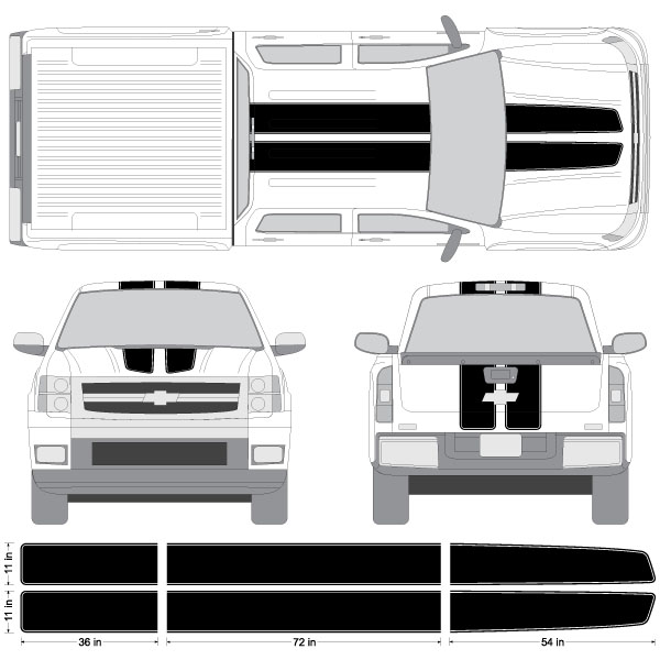 Chevy Silverado Sierra EZ Rally Racing Stripes M Vinyl Stripe - Decals for trucks customizedcustom graphics decals honda chevy ford gmc mitsubishi