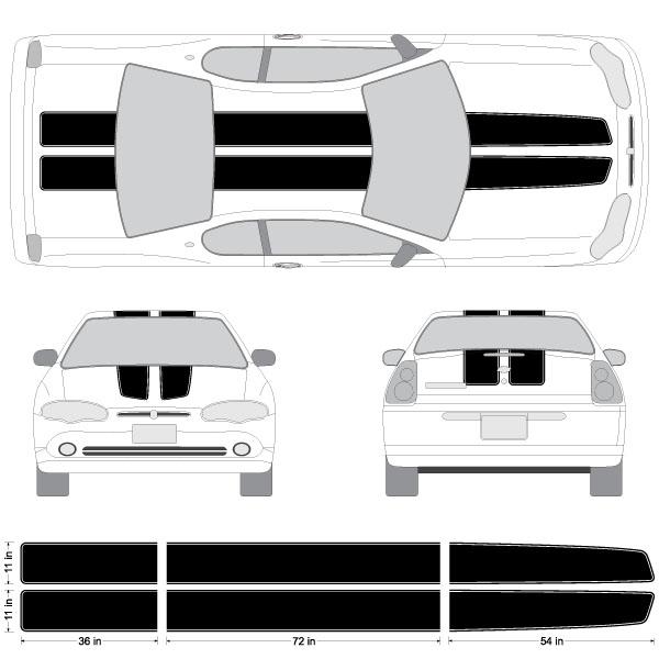 Chevy Colorado /& Canyon EZ Rally Racing Stripes 3M Vinyl Stripe Decals Graphics