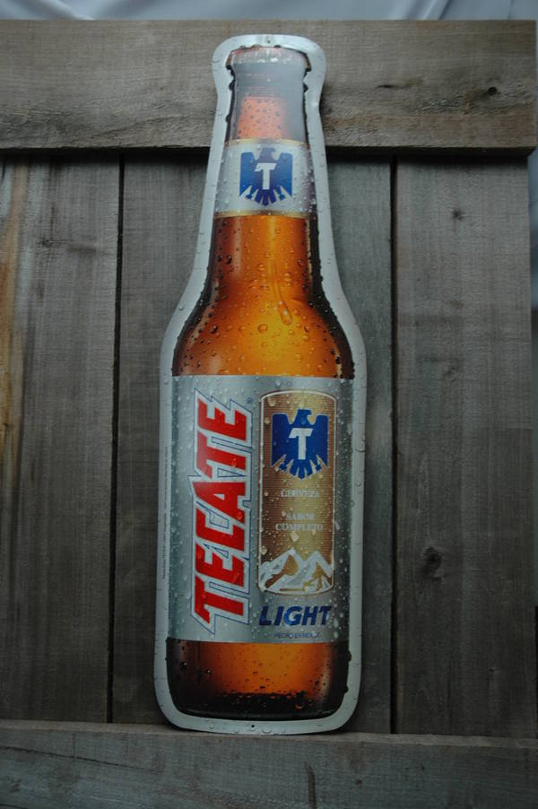 Man Cave Beer Signs : Metal giant tecate light beer bottle tin sign bar man cave