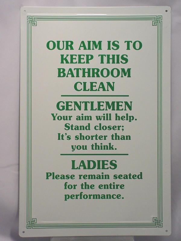 METAL CLEAN BATHROOM SIGN TIN SIGNS EBay