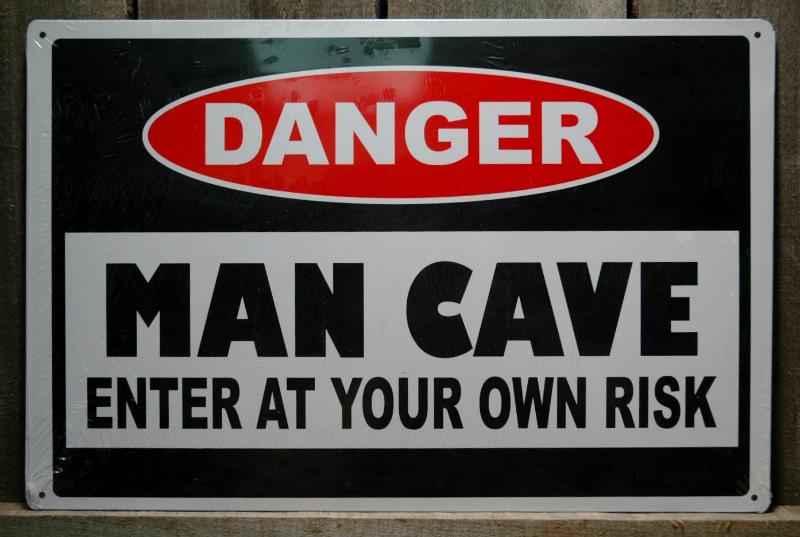 Man Cave Tin Signs : Metal danger man cave enter at your own risk tin sign bar