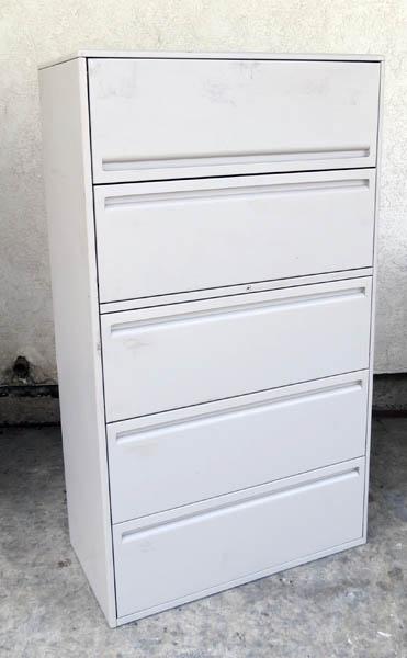 lockable 5 drawer lateral size file cabinet filing cabinet ebay. Black Bedroom Furniture Sets. Home Design Ideas