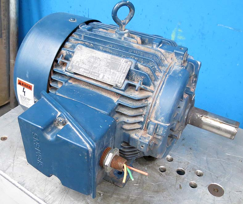Siemens 7 5 hp electric motor 1 3 8 shaft three phase for 7 5 hp 3 phase motor