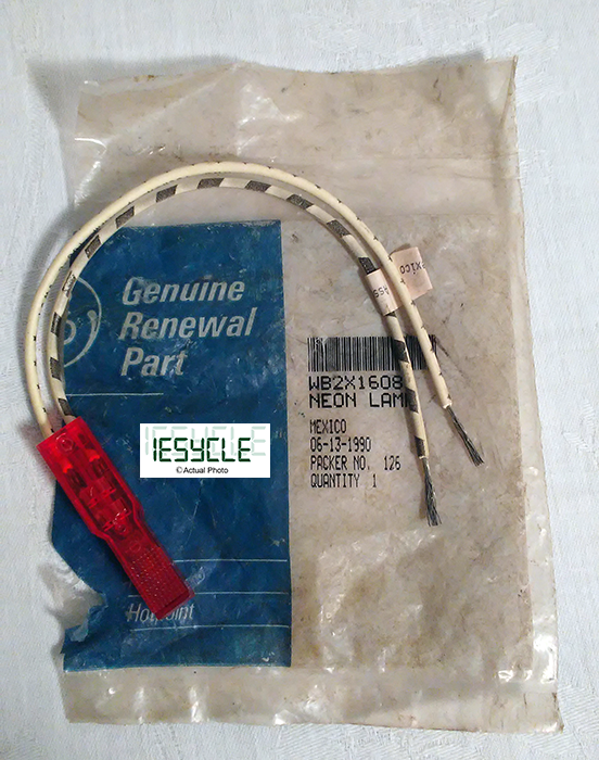 New GE Range Neon Lamp Light Indicator WB2X1608 Part Repair Genuine Replacement
