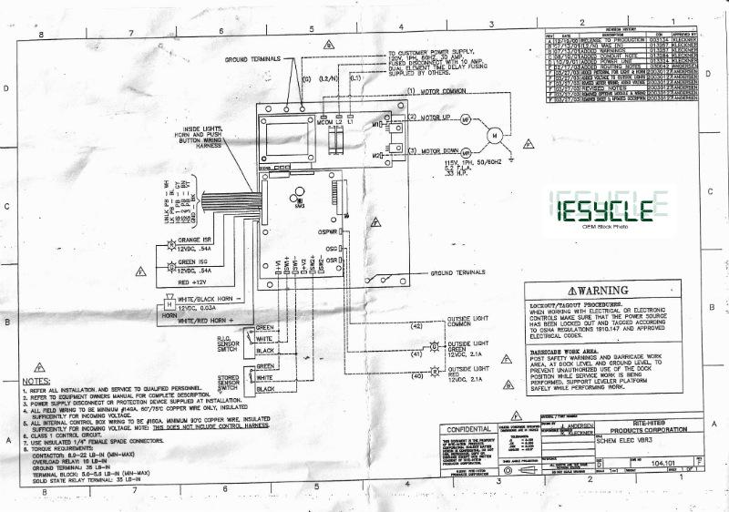 RiteHite DOKLOK VBR300 Control Module 120V  IESycle the place for Industrial Electrical