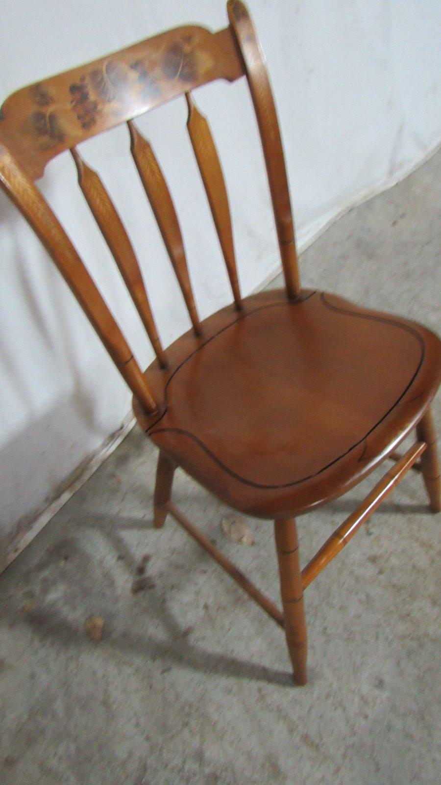 Hitchcock Chair Farmhouse Stenciled Design Ebay
