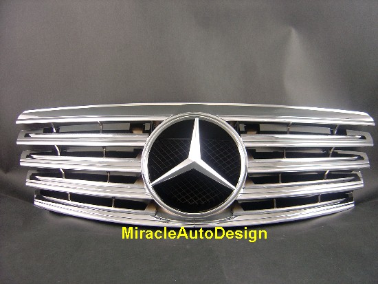 Front grill chrome for 2000 2002 mercedes w210 e class ebay for 2011 mercedes benz e350 grill