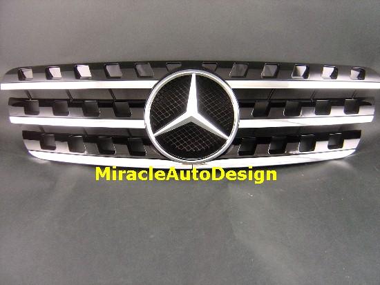 Front Grille Black Assembly For 1996 2005 Mercedes Benz