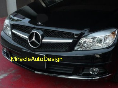 Black front grill for 2007 2014 mercedes benz w204 c class for Mercedes benz c300 grill