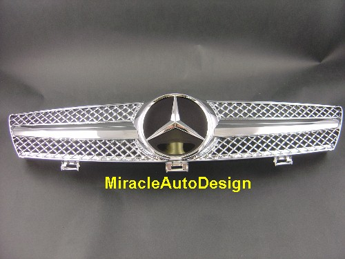 Front Grill Chrome Assembly For 2004 2008 Mercedes Benz