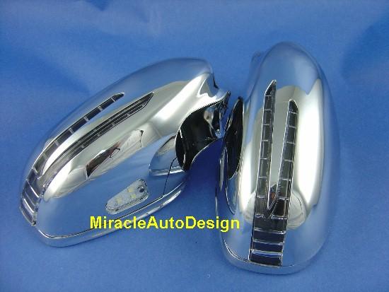 Arrow Led Door Chrome Mirror Covers Set For 2005 2009
