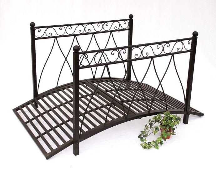 br cke aus metall 111252 gartenbr cke 145cm metallbr cke teichbr cke steg ebay. Black Bedroom Furniture Sets. Home Design Ideas