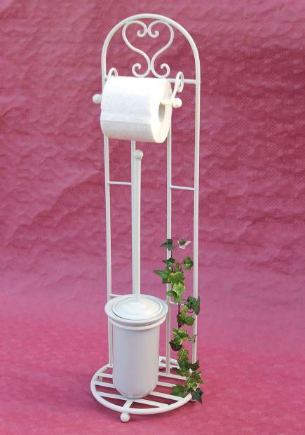 toilettenrollenst nder 81cm mit b rste wei 95249 toilettenpapierhalter wc bad ebay. Black Bedroom Furniture Sets. Home Design Ideas
