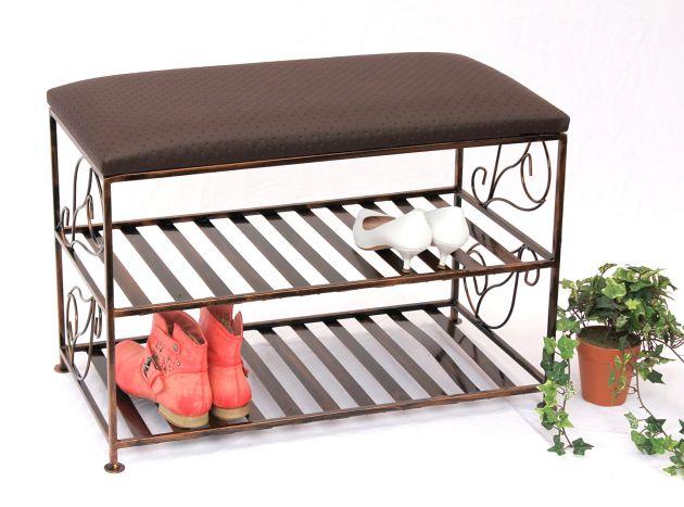 scarpiera con panca art 222 panca 70cm scarpiera in metallo portascarpe ebay. Black Bedroom Furniture Sets. Home Design Ideas