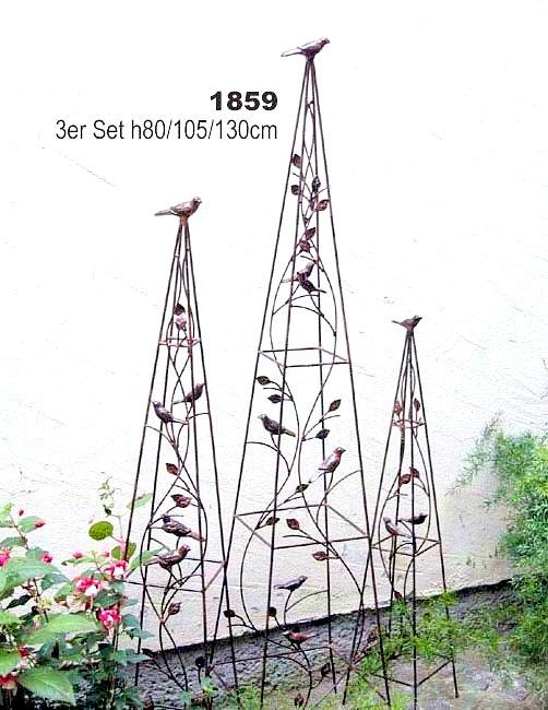 pyramide 1859 rankhilfe aus metall 3er set 80 105 130cm kletterhilfe zaun ebay. Black Bedroom Furniture Sets. Home Design Ideas