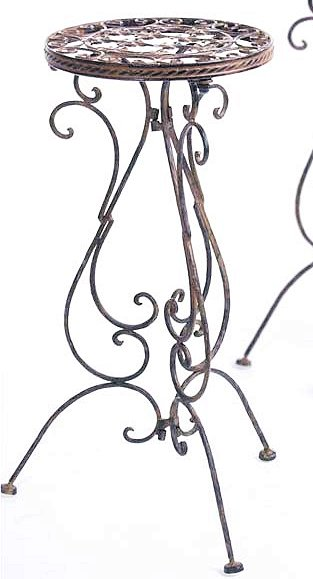 Table d 39 appoint 1853 jardini res 60cm avis en fer forg - Table d appoint fer forge ...