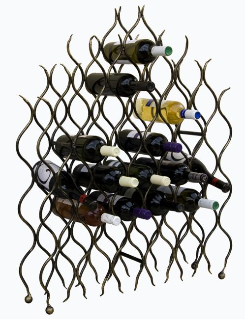 weinregal grand feu metall schmiedeeisen f r 40 flaschen flaschenhalter 95cm ebay. Black Bedroom Furniture Sets. Home Design Ideas