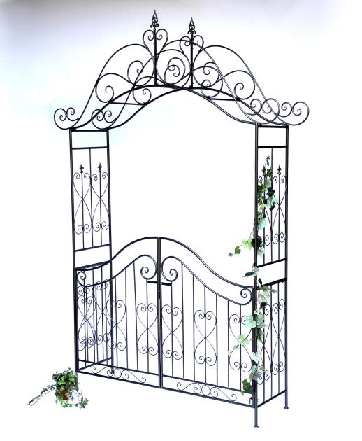 rosenbogen mit tor pforte 131872 aus metall gartentor. Black Bedroom Furniture Sets. Home Design Ideas