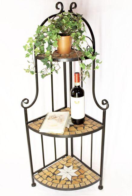 eckregal mosaik merano 12005 b cherregal 114cm aus metall schmiedeeisen regal ebay. Black Bedroom Furniture Sets. Home Design Ideas