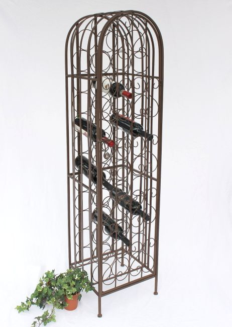 weinregal weinschrank 121384 flaschenregal aus metall f. Black Bedroom Furniture Sets. Home Design Ideas