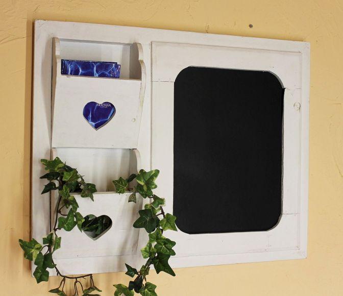 notiztafel 12237 kreidetafel 52cm wandregal shabby memotafel infobrett tafel ebay. Black Bedroom Furniture Sets. Home Design Ideas