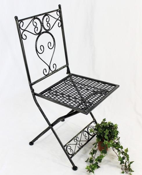 chaise de jardin chaise sevilla hx12621 chaise pliante 92cm en m tal fer forg ebay. Black Bedroom Furniture Sets. Home Design Ideas