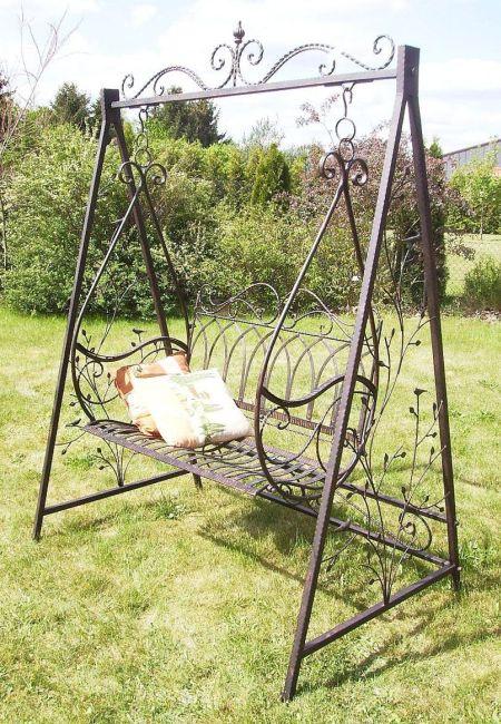 Balan oire balancelle gondole 1868 en m tal fer forg for Balancelle de jardin chez castorama