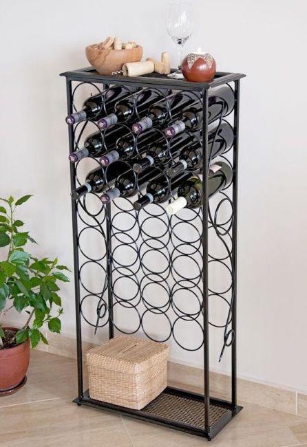 weinregal rico 100cm flaschenst nder aus metall f r 28 flaschen regal ebay. Black Bedroom Furniture Sets. Home Design Ideas