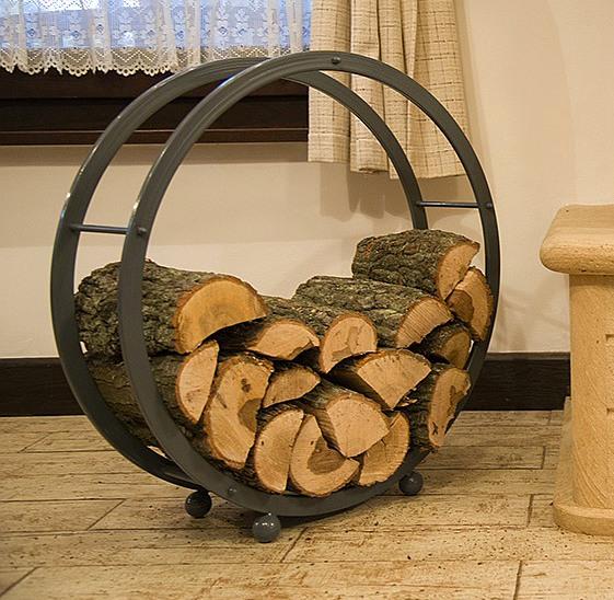 kaminholzregal kaminholzst nder rund d 70cm grau 80004. Black Bedroom Furniture Sets. Home Design Ideas